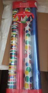 kirkland wrapping paper kirkland signature 4 rolls premium reversible gift wrap wrapping
