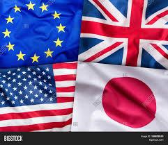 Japan Flag Image World Flags Concept Collage Four Image U0026 Photo Bigstock