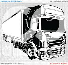 volvo big rig trucks clipart of a black and white lorry big rig truck 2 royalty free