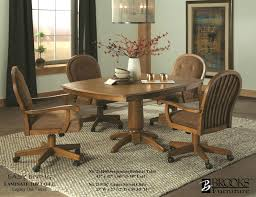 Chair Leikela Rattan Tropical Dining Furniture Set C Dining - Dining room chairs with rollers