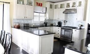antique white cabinets with dark floors antique white kitchen