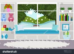interior living room childrens games room stock vector 451269376