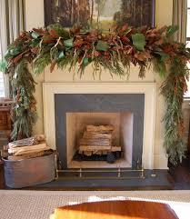 decorating a fireplace for christmas without a mantle eight