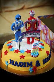 rizq cakes ultraman blue power rangers cake