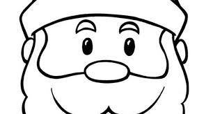 large santa face coloring archives cool coloring pages