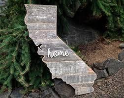 wooden california wall california wood etsy