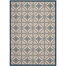 Safavieh Outdoor Rugs Safavieh Courtyard Aqua Beige 8 Ft X 11 Ft Indoor Outdoor Area