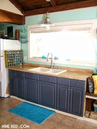 blue painted kitchen cabinets beautiful blue painted kitchen