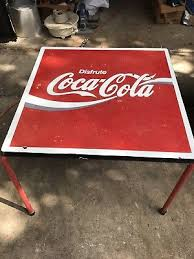 coca cola table and chairs vintage coca cola table with 4 coca cola chairs rare 99 95 picclick