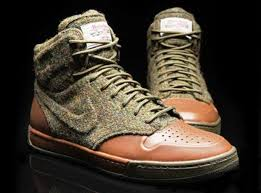 high class high class high tops nike harris tweed