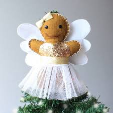 christmas tree angel gingerbread angel christmas tree topper by miss shelly designs