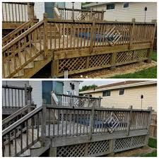 fence and deck cleaning curb appeal