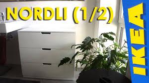 ikea nordli dresser assembly youtube
