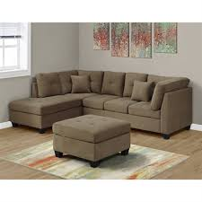 microfiber sectional with ottoman incredible monarch specialties sectional sofa with ottoman lowes