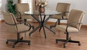 Dining Room Chairs With Casters Foter - Dining room chairs with rollers