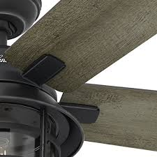 hunter 54 coral gables indoor outdoor fan hunter fan 54 weathered zinc outdoor ceiling fan with a clear glass