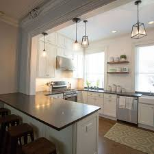 Open Cabinets In Kitchen 100 Year Old Hoboken Townhouse Gets Kitchen Makeover White