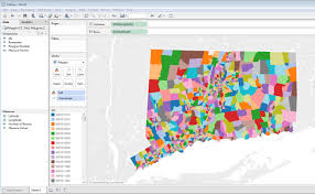Map Of Ct Towns Mapping Connecticut Census Tract Data In Tableau Outside The