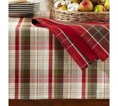kirkwood plaid tablecloth pottery barn ideas