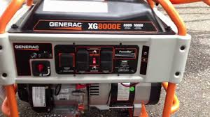 generac xg8000e xg8000 portable generator review 8000 watts youtube