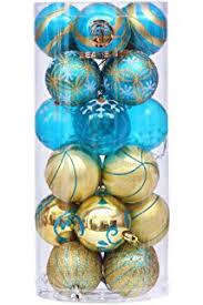 amazon com festive season winter turquoise swirl shatterproof