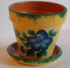 flower pot sale 6 u0027 u0027 or 8 u0027 u0027 hand painted clay flower pot