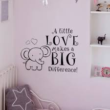 online get cheap big room quotes aliexpress com alibaba group elephant baby room decal nursery room wall decal a little love makes a big difference vinyl art quote