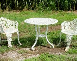 Patio Coffee Table Set Wrought Iron Patio Furniture Etsy