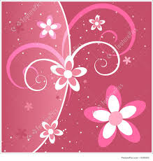 cards and posters pink flowers and swirls stock illustration