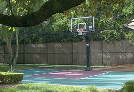 Backyard Basketball Court Basketball Court Backyard Pro Slam Systems Sport Court East