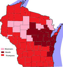 Wisconsin Map By County by File Wisconsin Republican Senatorial Primary Results 2012 Png