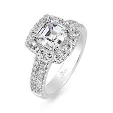 square cut engagement ring r square cut engagement ring with a band and halo