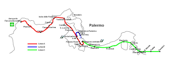 Palermo Italy Map by Metropolitana Di Palermo