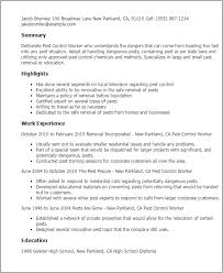 Resume Samples For Maintenance Worker by Professional Pest Control Worker Templates To Showcase Your Talent