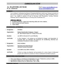 architect resume samplesarchitect cv sample senior architect
