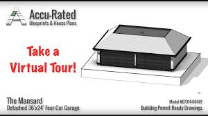 Four Car Garage Plans Accu Rated Blueprints U0026 House Plans Mansard Four Car Garage