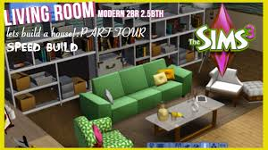 the sims 3 speed build modern style home part 4 living room