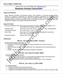 business analyst resume template u2013 15 free samples examples