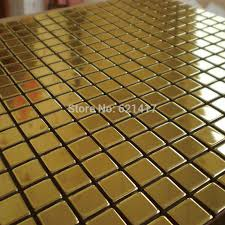 Aliexpresscom  Buy Metal Golden Mosaic Mirror Aluminum Plastic - Plastic backsplash tiles