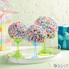Candy Topiary Centerpieces - carnival themed candy buffet ideas orientaltrading com