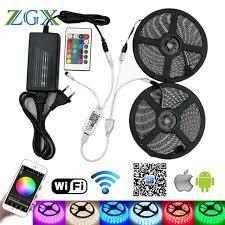 led strip lights wifi controller zgx wifi controller 5050 rgb led strip light 60led m neon l