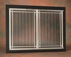 the ovation deco rectangle cabinet fireplace door