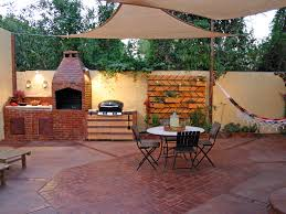 backyard kitchen ideas engaging outdoor kitchen decoration ideas taking handmade painted