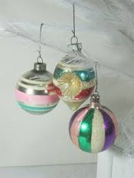 4 vtg antique blown glass ornaments poland