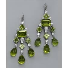 Peridot Chandelier Earrings Peridot And Diamond Earrings U2013 Jewelry