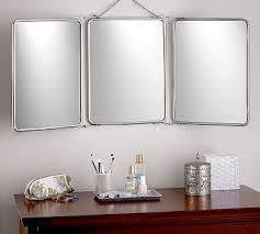 tri fold mirror bathroom cabinet tri fold mirror potterybarn home design pinterest tri fold