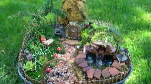 fairy garden with pond and waterfall miniature youtube
