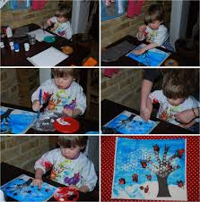 kids get crafty winter scene for calendar january red ted