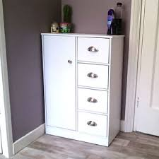 bathroom cabinet white chest of drawers sideboard wooden cupboard