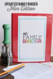 updated family binder mini edition